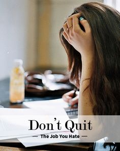 Quitting your job... or not.