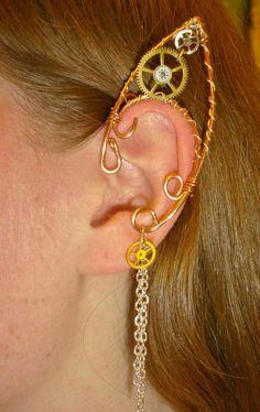 steampunk elf earing
