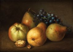 by Johannes Bouman Still Life With Apples, Apple Pear, Vegetables, Pears, 17th Century, Miniature, Food, Classic, Illustration
