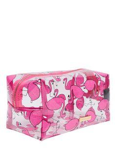 Glitter Flamingo Make Up Bag