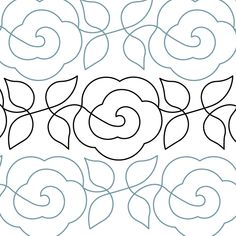 Rose Vine - Paper - - Quilts Complete - Longarm Continuous Line Quilting Patterns Patchwork Quilting, Quilting Stitch Patterns, Machine Quilting Patterns, Quilt Stitching, Quilt Block Patterns, Longarm Quilting, Quilting Stencils, Quilting Templates, Quilting Ideas