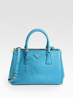 Prada tote bag. Love the color!