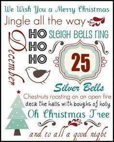 FREE Christmas Subway Art Printables-when I have time! Christmas Subway Art, Christmas Quotes, Christmas Signs, Christmas Pictures, Winter Christmas, Christmas Holidays, Christmas Crafts, Christmas Decorations, Christmas Ideas
