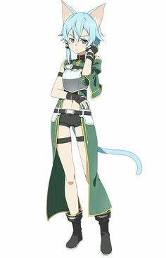 Shiori (No ears) Chapter 15 Loli Kawaii, Kawaii Girl, Kawaii Anime, Sinon Ggo, Kirito, Arte Online, Online Art, Asada Shino, Desenhos Love