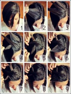 Fashonable Updo Hairstyles for Short Hair Hair Styles 101 Amazing Updos For Short Hair. Fashonable Updo Hairstyles For Short Hair Hair Styles. Pretty Braided Hairstyles, Cute Hairstyles For Short Hair, Simple Hairstyles, Hairstyle Ideas, Hairstyle Tutorials, Updo Hairstyle, Haircut Short, Braid Hairstyles, Short Hair Tutorials