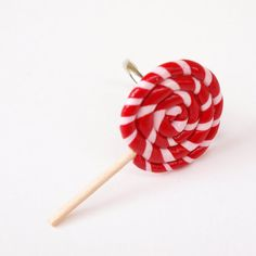 Polymer clay ring lollipop valentines day candy by PieceOfCakeHJ, €6.00