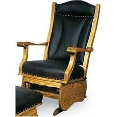 Leather Glider Rocker - Ideas on Foter Red Oak Stain, Glider Chair, Made In America, Gliders, Rocking Chair, Black Leather, Cherry, Furniture, Amazon