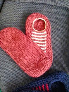 Receita de Tricô: Sapatinho de tricô para adulto fáceis de fazer