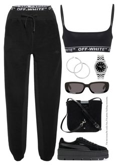 A fashion look from March 2018 featuring track pants, white sports bra and sports activewear. Browse and shop related looks. Diaries, Adidas Originals, Off White, Rolex, Yves Saint Laurent, Active Wear, Fashion Looks, Polyvore, Pants