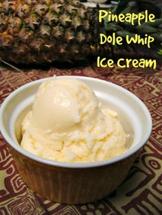 Disney's Dole Whip (Pineapple Ice Cream) Made at home with a 5 ingredient recipe.
