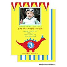 Dinosaur Photo Card Invitations from RockPaperScissors