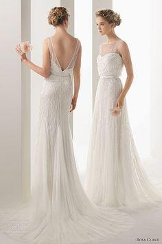 soft-by-rosa-clara-2014-ugo-beaded-sleeveless-wedding-dress, #wedding #dress