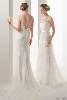 soft-by-rosa-clara-2014-ugo-beaded-sleeveless-wedding-dress, #wedding #dress
