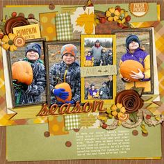 OMG LOVE! #fall #pumpkin #digiscrap page by @Missy Carlson-Strand | Seasons Change Kit from peppermintcreative.com