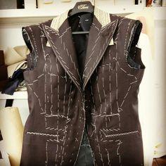 Brown bespoke suit