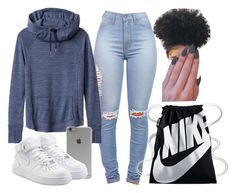 """""""Idek """" by foreverkaylah ❤ liked on Polyvore featuring Athleta, Incase and NIKE"""