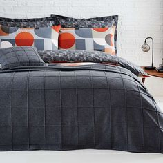Featuring a pleated check design, this versatile felt stitch throw will compliment many different rooms and decors in your home. Crafted from a polyester wool blend fabric, this Elements throw is super cosy and has a matching grey cushion available. Grey Cushions, Bedroom Accessories, Bed Throws, Upholstered Furniture, Master Bedroom, Felt, Stitch, Blanket, Design
