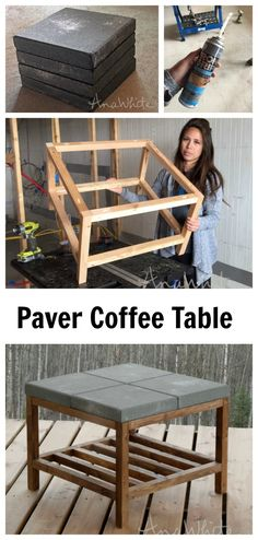 concrete paver DIY coffee table!