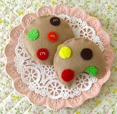 M cookies felt food tutorials