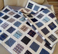 Custom Memory Quilt / T-shirt Quilt / Baby Clothes Quilt / Shirt Memory Quilt…