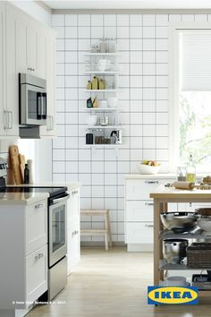 IKEA SEKTION kitchens are designed to help you create a kitchen that works for you! With a variety of appliances, drawers and doors, you can personlize your kitchen to fit your space and style!
