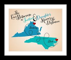Items Similar To 1 Gift For Dad Fathers Day Gifts From Daughter Son Long Distance Personalized Maps With Special Memories