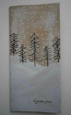 carte noel peinture