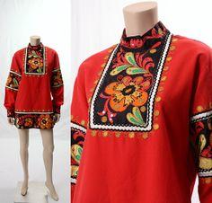 Boho Vintage 80s Ethnic Embroidered Floral by CkshopperVintage, $49.00