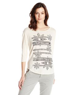 d25d805797a78 Lucky Brand Women s Sketched Floral Tee   This is an Amazon Affiliate link.  Check out