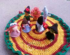 Crochet Mini Wizard of Oz Playset by HatchedWithLove on Etsy Cute Crochet, Crochet Dolls, Crochet Baby, Knit Crochet, Crocheted Toys, Cute Beanies, Pattern Library, Crochet Patterns, Crochet Ideas