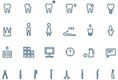 Zahnarzt Hauser Piktogramme