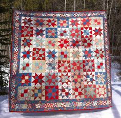 Rural Jardin Stars Quilt by CoraQuilts