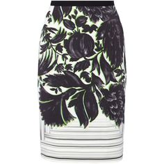 Peter Pilotto Erin printed stretch-crepe skirt (€355) found on Polyvore featuring skirts, green, peter pilotto, button skirt, green skirt, multi color skirt and peter pilotto skirt