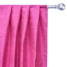 Curtain Panels, Panel Curtains, Window Sizes, Bed Runner, Custom Curtains, Box Pleats, Bubblegum Pink, Pink Fabric, Rod Pocket