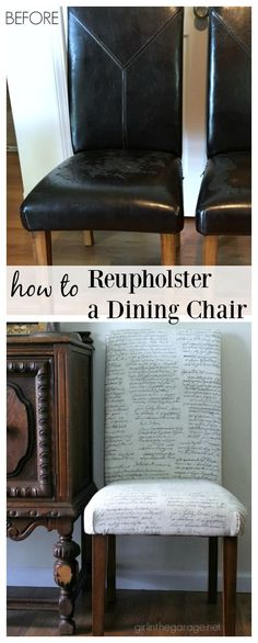 Reupholster DIY Dining Chair Makeover - Girl in the Garage