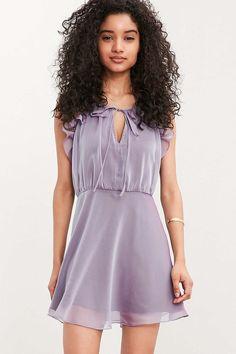 Kimchi Blue Shiloh Chiffon Ruffle Mini Dress - Urban Outfitters
