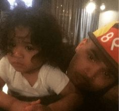 Pics: Chris Brown celebrates first Father's Day with his adorable Princess-Royalty - http://www.nollywoodfreaks.com/pics-chris-brown-celebrates-first-fathers-day-with-his-adorable-princess-royalty/