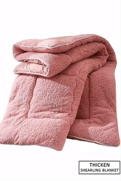 Thicken Shearling Blanket Winter Soft Warm Bed Quilt for Bedding Twin Full Queen King Size Material: Shearling Color: Pink, White, Camel,Brown Machine Washable Size & Weight: Twin / inchs Full / inchs Queen / inchs King / inchs Packing Includes: 1 x . Quilt Bedding, Bedding Sets, Pink Bedding, Camas Twin, Home Bedroom, Bedroom Decor, Bedrooms, Bedroom Ideas, Master Bedroom