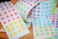 Homemade Candy Buttons | Free printable template - Popsicle Blog