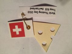 World Thinking Day Switzerland Swap: Switzerland Swap Thinking Day ... Gs World, World Days, Chalet Girl, Daisy Scouts, Cub Scouts, Girl Scout Law, Pinterest Girls, Girl Scout Activities, World Thinking Day, Switzerland, Camps, Tirol