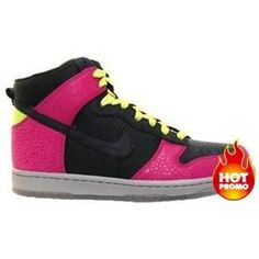 quality design 69cff 0afa9 Womens Nike Dunk High Supreme Spark Black Rave Pink Citron