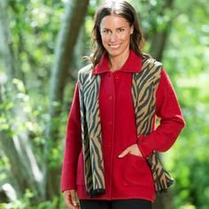 Boiled Wool Classic Jacket Rouge http://www.creswickwool.com/apparel/womens/boiled-wool-classic-jacket-magenta.html