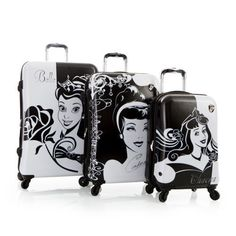 Disney Princess Three-Piece Luggage Set, $440 | 18 Products For Hardcore Disney Princess Fans