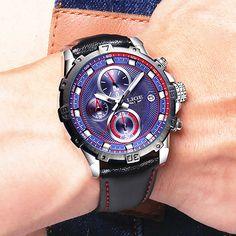 LIGE Brand hot men's wrist watches quartz Steel watch men Multifunction sports leather watch male Clock man Relogio Masculino