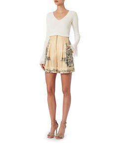 Philosophy Di Lorenzo Serafini Silk Floral Shorts