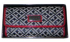 Tommy Hilfiger Continental Wallet Clutch Handbag Chekbook Holder