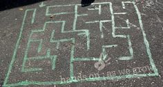 spray paint a maze directly onto the grass