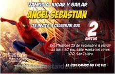 Invitaciones de cumpleaños del hombre araña Gratis