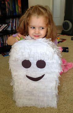 Meagan Tells All: DIY: Ghost Piñata