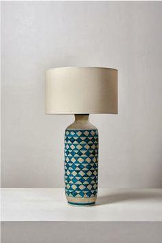 Guido Gambone; Glazed Ceramic Lamp, 1950s.
